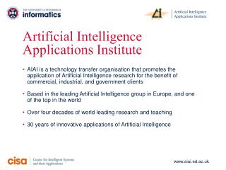 Artificial Intelligence Applications Institute