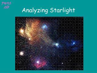 Analyzing Starlight