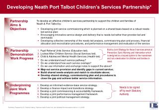 Developing Neath Port Talbot Children's Services Partnership*