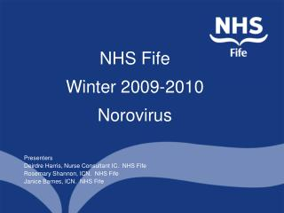 NHS Fife Winter 2009-2010 Norovirus