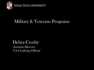 Military & Veterans Programs