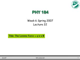 PHY 184