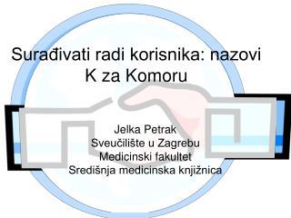 Surađivati radi korisnika: nazovi K za Komoru
