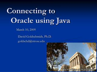 Connecting to   Oracle using Java