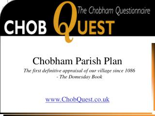 Chobham Parish Plan
