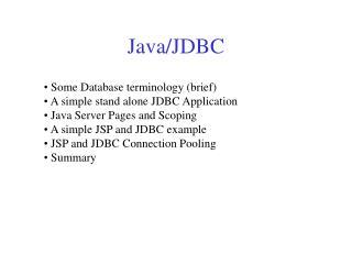 Java/JDBC
