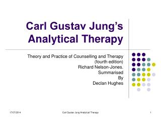 Carl Gustav Jung's Analytical Therapy