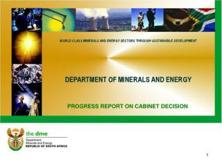 PROGRESS REPORT ON CABINET DECISION