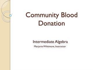 Community Blood Donation