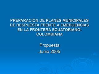 Propuesta Junio 2005