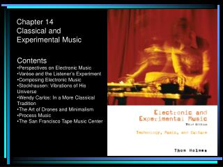 Chapter 14 Classical and Experimental Music