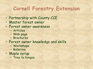 Cornell Forestry Extension