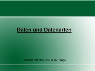 Daten und Datenarten