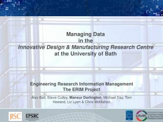 Engineering Research Information Management  The ERIM Project