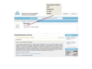 Apresentar Dados CPF Endereço E-mail Status