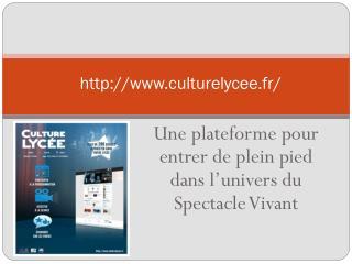 http://www.culturelycee.fr/
