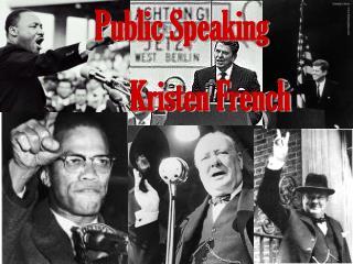 Public Speaking Kristen French