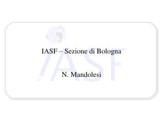 IASF – Sezione di Bologna