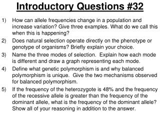 Introductory Questions #32