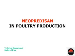 NEOPREDISAN IN POULTRY PRODUCTION