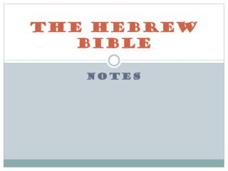 The Hebrew Bible