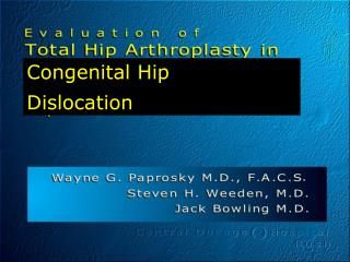 Congenital Hip Dislocation