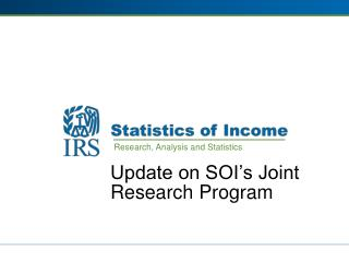 Update on SOI's Joint Research Program