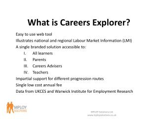 What is Careers Explorer?
