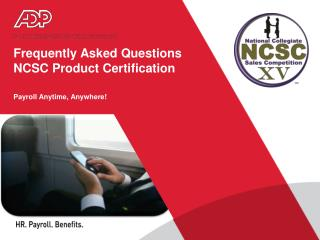 Frequently Asked Questions NCSC Product Certification
