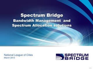 Spectrum Bridge Bandwidth Management  and Spectrum Allocation solutions