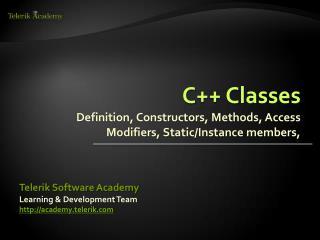C++ Classes