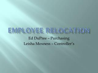 Employee Relocation