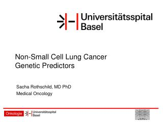 Non-Small Cell Lung Cancer Genetic Predictors