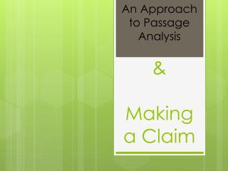 & Making a Claim