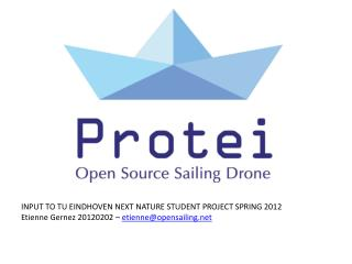 INPUT TO TU EINDHOVEN NEXT NATURE STUDENT PROJECT SPRING 2012