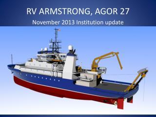 RV ARMSTRONG, AGOR 27
