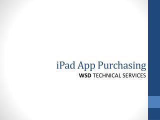 iPad  App Purchasing