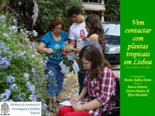 Vem contactar com plantas tropicais em Lisboa 12-07-2010 a 16-07-2010  Coordenadora: Maria Ad lia Diniz Autores: Marco P