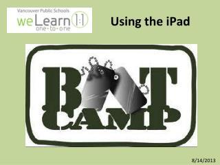 Using the  iPad