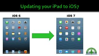 Updating your iPad to iOS7