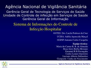 Sistema de Informa  es do Controle de Infec  o Hospitalar