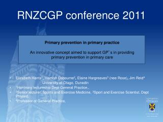 RNZCGP conference 2011