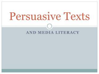 Persuasive Texts