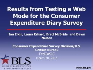 Results from Testing a Web Mode for the Consumer Expenditure Diary Survey