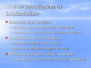 Review Introduction to Existentialism