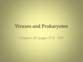 Viruses and Prokaryotes