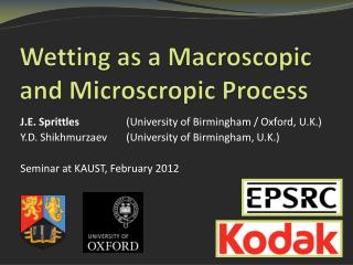 Wetting as a Macroscopic and  Microscropic  Process