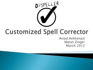Customized Spell Corrector