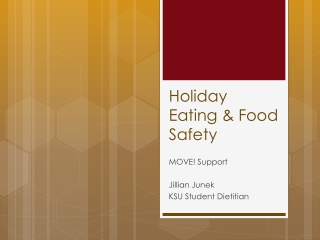 Holiday Food Safety Enjoy and Stay Healthy