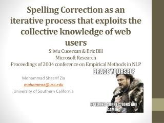 Mohammad Shaarif Zia mohammsz@usc.edu University of Southern California